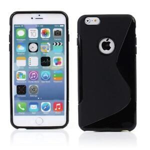 Coque-Gel-Silicone-S-Line-iPhone-4-4S-5-5C-6-7-8-Plus-XS-Noir