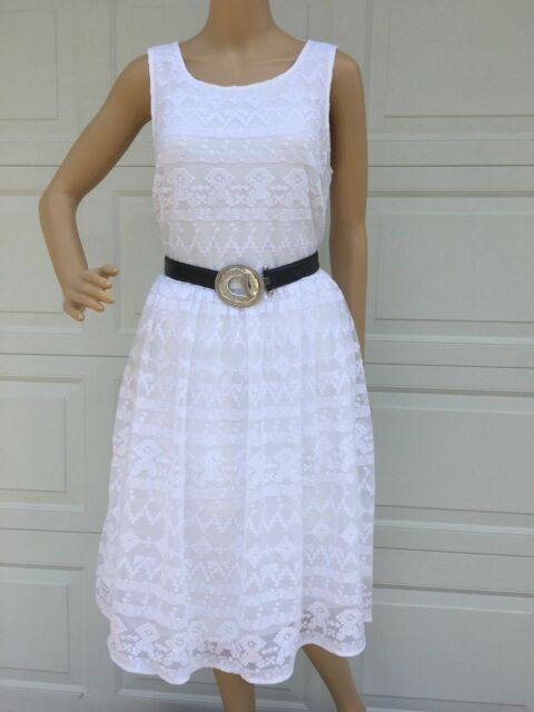 """69d82c7dc3 New Sundance Catalog SZ 16 White Embroider Lace """"in A Heartbeat"""" Dress"""
