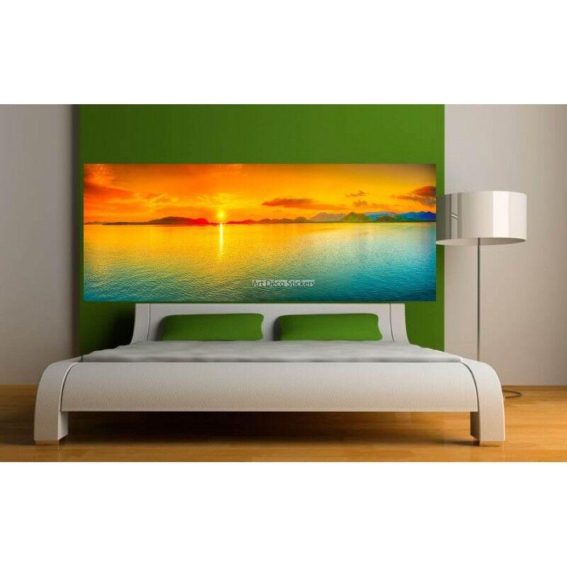 Aufkleber -kopf Bett Deko Zimmer -untergang Sonne 9143