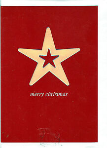 Christmas Holiday Cards Spectrum Merry Christmas Silver Star Card Uk Import Ebay