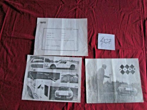 3 pages sur le type 1300 de 1970 JIDE  jacques Durand constructeur N°4827