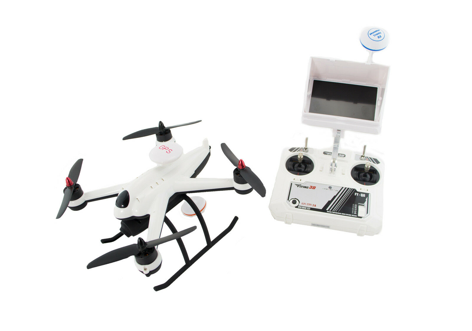 GPS Quadrocopter Flying 3D X6  2.4GHz 6 Kanal  mit FPV Komplettsystem   RTF Set
