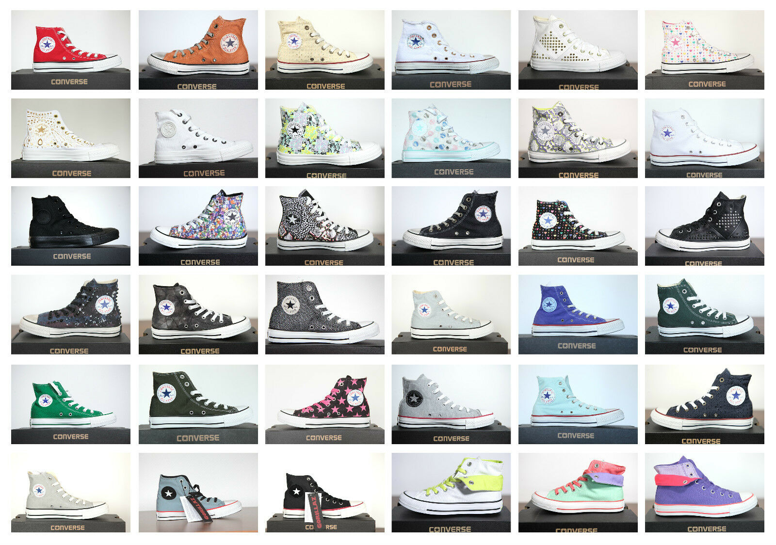 Neu All Star Converse Chucks Sneaker Hi Leinen Damen Herren Sneaker Chucks viele Modelle d2e61b