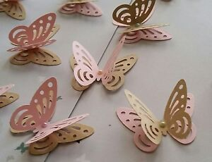 Image Is Loading 24x 3D Paper Butterflies Wedding Party Table Decorations