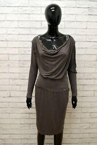 Vestito-LIU-JO-Donna-Taglia-Size-L-Abito-Tubino-Dress-Woman-Manica-Lunga-Slim