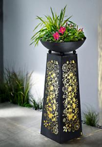 pflanzs ule flora schale mit beleuchtung pflanzschale rosts ule ebay. Black Bedroom Furniture Sets. Home Design Ideas