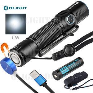 Olight-M2R-Warrior-LED-Taschenlampe-Taktisch-1500LM-CREE-CW-LED-18650-Lampe-DE