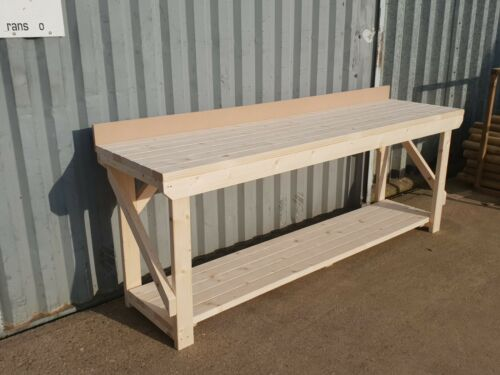 NEW 4FT LONG 18MM THICK MDF TOP WORK BENCH WITH REAR UPSTAND
