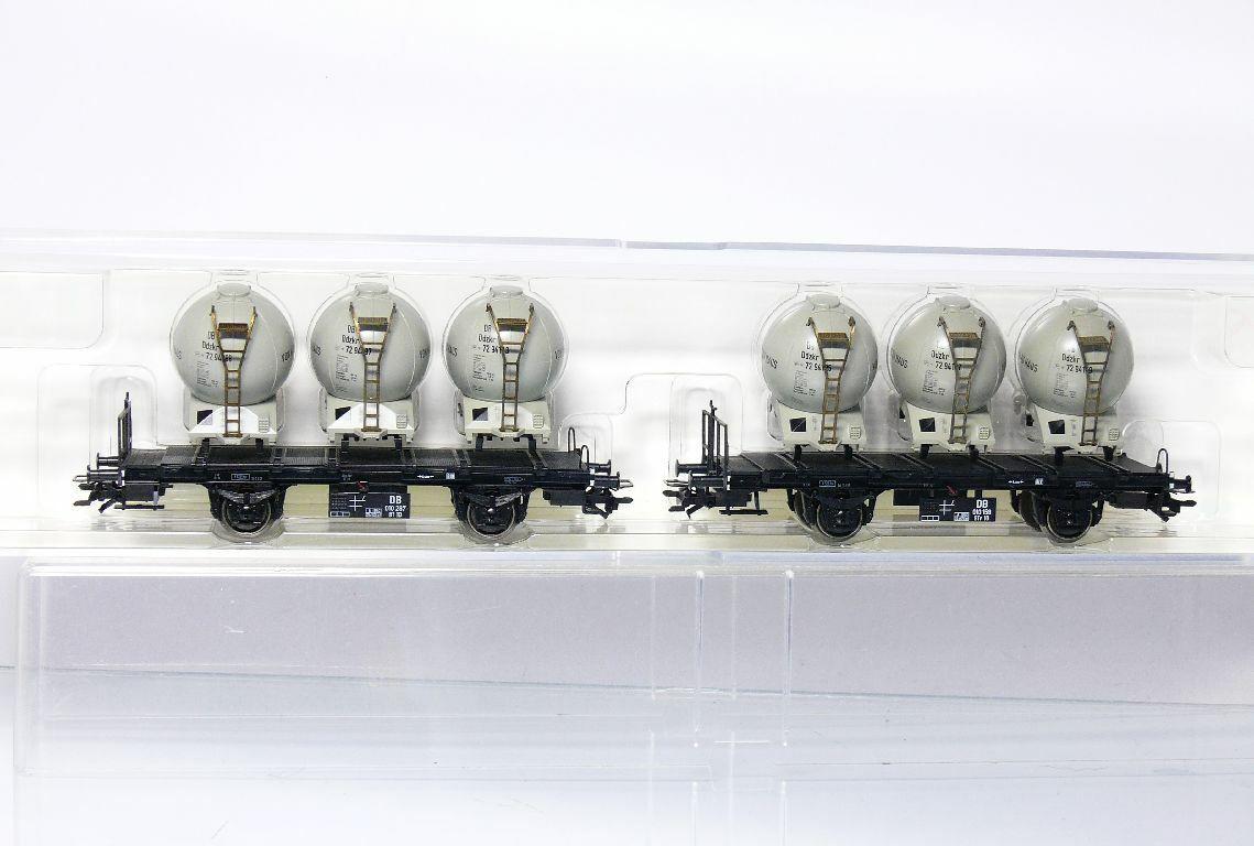 Trix 24023 Dc H0 Set Vagone Trasporto Container Btr 10 DB 2 Tlg come Nuovo