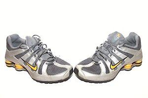 c123a9d8ab89c2 Youth NIKE SHOX NZ Size 3.5Y 313973-071 Grey Black Silver Yellow ...