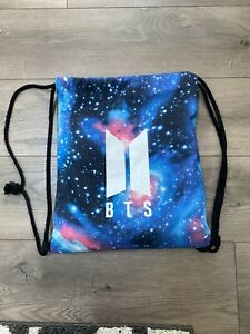 KPOP BTS Bangtan Boy Galaxy Drawstring Bag Backpack Starry BTS Logo | eBay