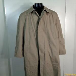 London Fog Raincoat Rain Trench Coat Mens Size 44s 44 L Short Khaki W Liner Ebay