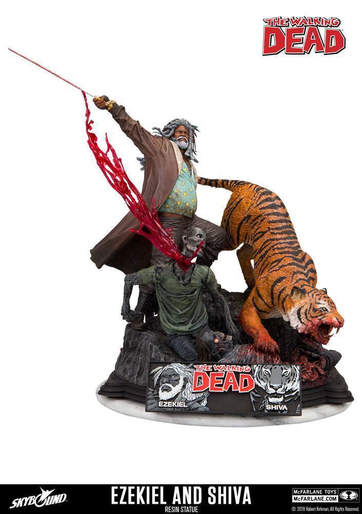 The Walking Dead Resin Statue - Ezekiel & Shiva 33cm LTD SIGNED – McFarlane Toys