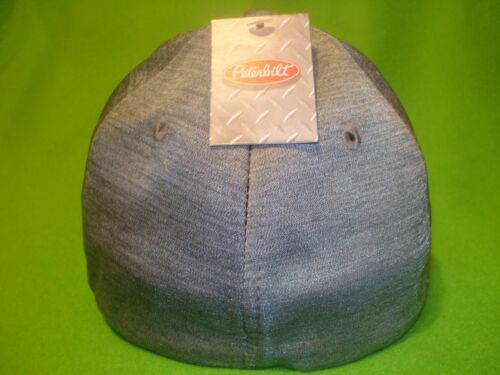 CHAMBRAY FITTED TRUCKERS CAP    *FREE SHIPPING IN U.S.A * PETERBILT HAT