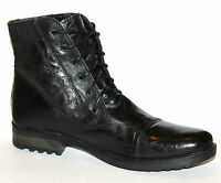 Marks & Spencer M&s Mens Uk 11 Black Creased Leather Traditional Ankle Boots