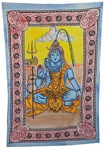 Lord-Shiva-Print-Indian-Tapestry-Wall-Hanging-Tapestry-Handmade-Throw-Wall-Decor