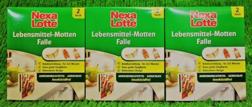3x2 NEXA LOTTE Lebensmittel Mottenfalle Mottenfallen Pheromonfalle 2,75€//Stück