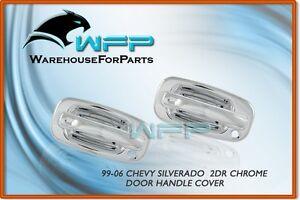 99-06-Chevy-Silverado-2DR-Chrome-Door-Handle-Cover-w-PSG-Keyhole