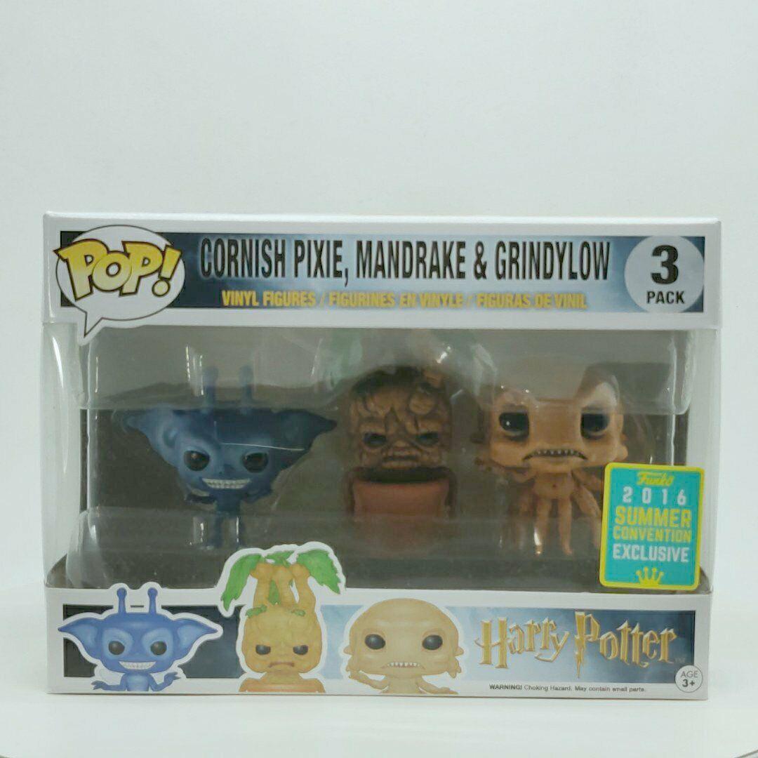 Funko Pop Vinyl Harry Potter Cornish Pixie, Mandrake & Grindylow Funko 3 Verpackung