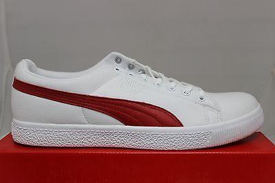 Puma Men's Clyde X UNDFTD CNVS 352768 01 White Ribbon Red Brand New