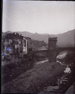 FRANCE-Alpes-Maritimes-Sospel-c1900-NEGATIF-Photo-Plaque-Verre-VR6L1n8