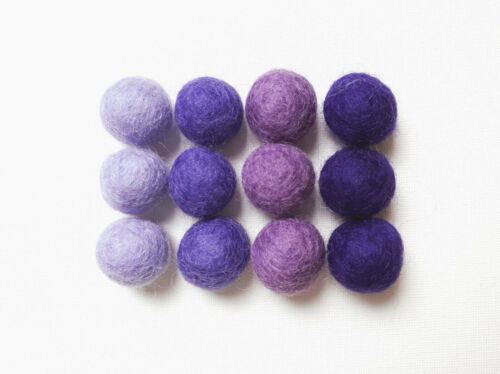 Choose Your Colours Supply Crafts 20 Wool Felt Balls 2cm Handmade 100/% Wool