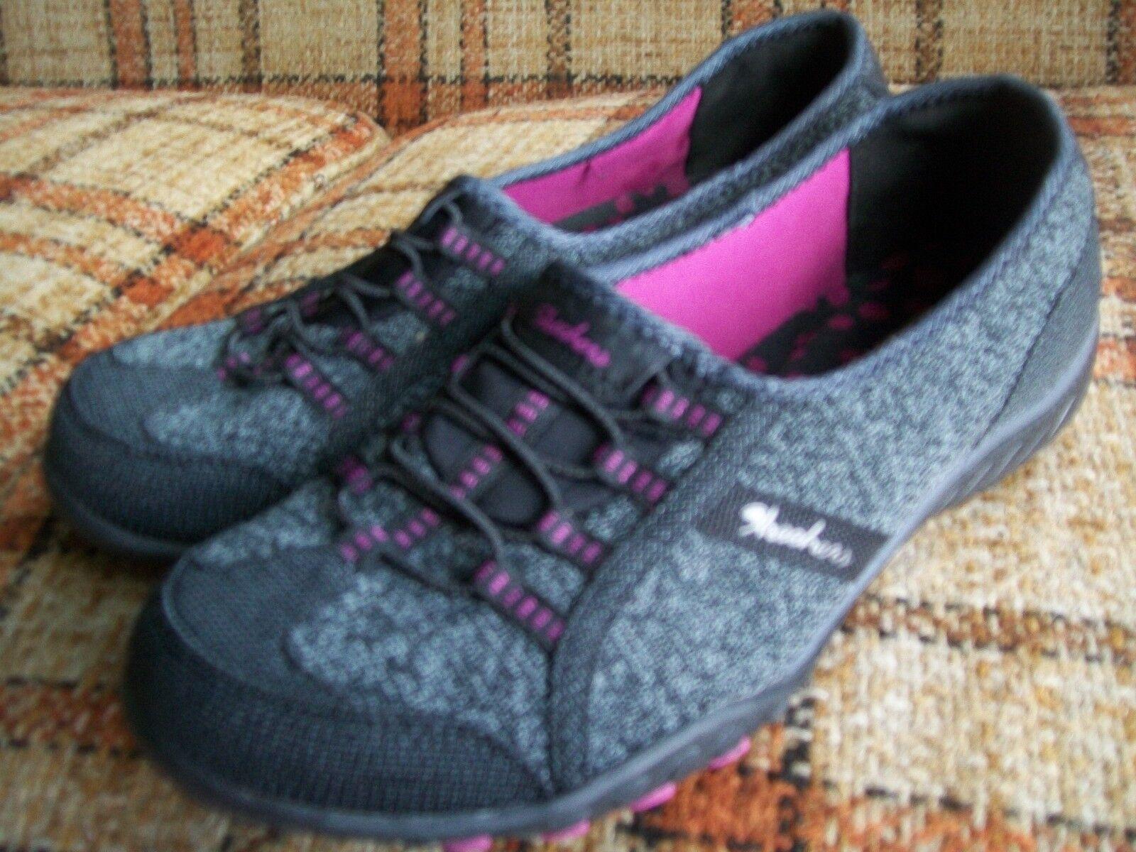 Skechers Womens Size 8.5 () Relaxed Fit Mem Foam SN 23010 BKPK