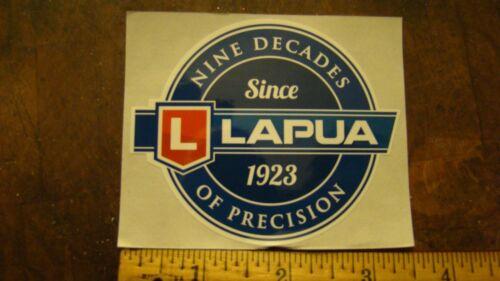 "lLAPUA /""Nine decades of precision/"" Round 3 1//2/""  Decal Sticker"