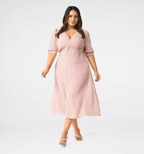 FOREVER NEW Sabrina Puff Sleeve Curve Midi Dress - size 16 / 18 / 20 - RRP $140