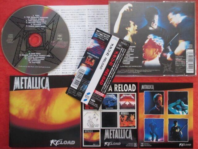 Metallica Reload JAPAN CD mit OBI & Aufkleber SRCS 8512