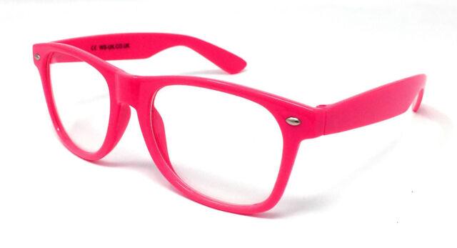 a8b30a7273f BULK Clear Lens Novelty Glasses Fancy Dress Hen Stag Party Wholesale Nerd  Geek Rose Pink 10