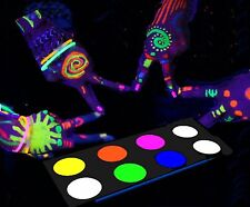 Glow in the dark Face Paint Body Paint Blacklight Reactive Neon Set Makeup