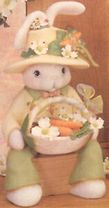 """Ceramic Bisque Ready to Paint Papa Bunny 15.5"""" tall"""