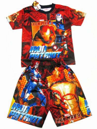 Iron Man 3 Boy Polyester Outfit Set T-Shirt+Shorts Size 4-8 age 3-8
