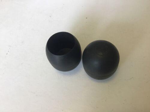 2 x retro MARCO beach caster sea Fishing rod butt caps 32mm For conoflex century
