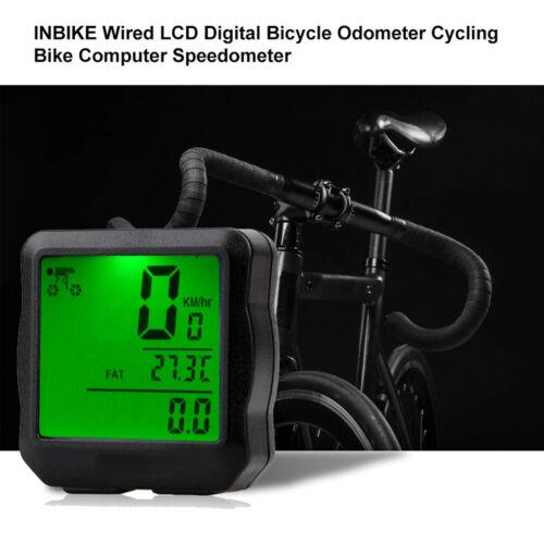 Digital LCD Backlight Fahrradcomputer Tachometer MTB Kilometerzähler Wasserdicht