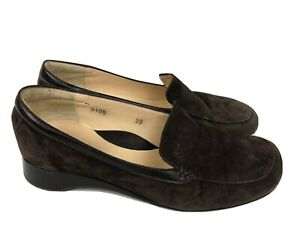 TARYN ROSE Women Leather w/ Suede Brown