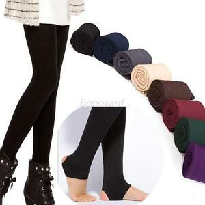 Brushed Lining Fleece Thick Tight Yoga Pants Trample Feet Warm ...
