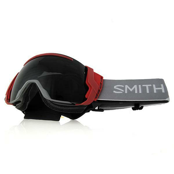 POC Lid Ski Goggles LEAD BLUE PERSIMMON tint with RED mirror