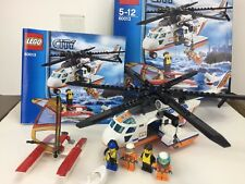 Lego City 60013 Coast Guard Helicopter Boat Shark 4 Minifigures Retired