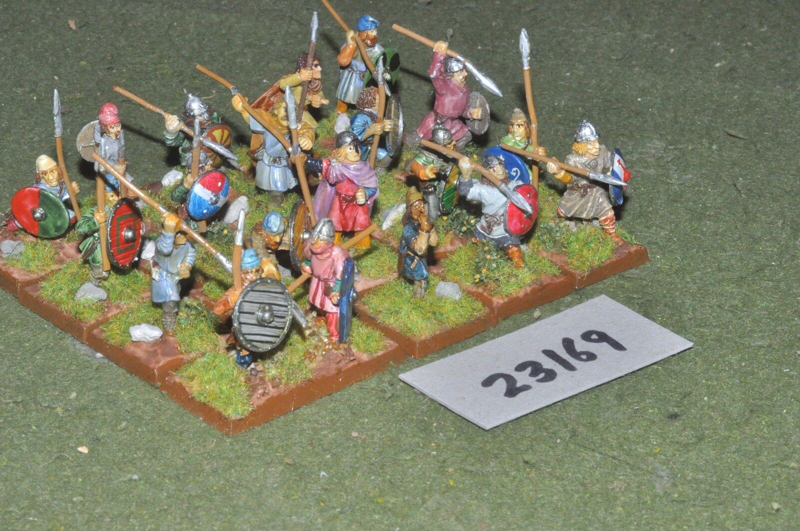 25mm dark ages   anglo-saxon - warriors 20 figures - inf (23169)