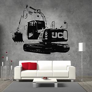 JCB-JS115-360-Digger-Vinyl-Sticker-Wall-Art-Boys-Bedroom-Garage