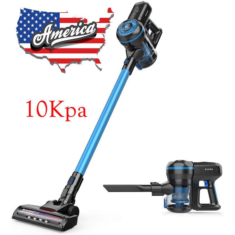 Cordless Vacuum Cleaner 2 in 1 Handheld Stick LED Brush Car