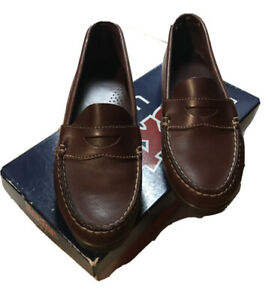 Shoes Dexter Brown Leather Slip On Moc Penny Loafers Women ...