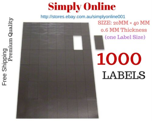 1000 Adhesive Fridge Magnets Post Cards Invitations 20 mm × 40 mm Magnetic Strip
