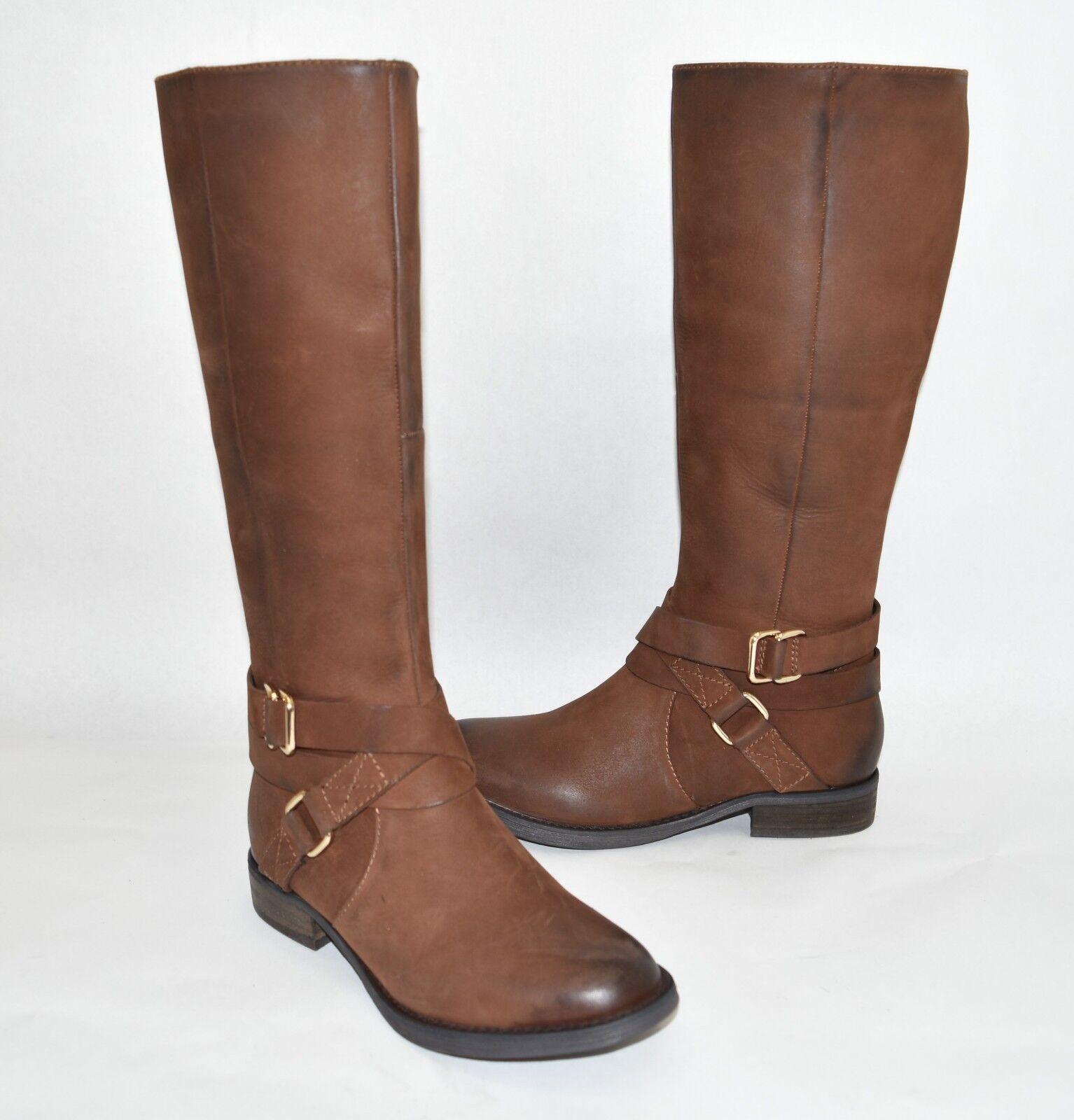 New    Blondo Nevo Waterproof Tall Riding Boot Brown Nubuck Leather B5347 Size 6.5 1ed8f4