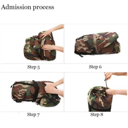 Envelope Single Sleeping Bag Waterproof Camo Outdoor Camping Hiking 3Season Army