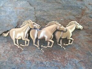 Running-Horses-Hair-Barrette-with-Made-in-France-70mm-Clip-Made-in-USA-6039B