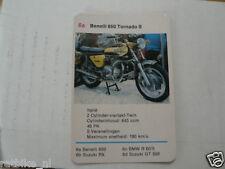 14-MOTOREN 6A BENELLI 650 TORNADO S  KWARTET KAART MOTORCYCLES, QUARTETT