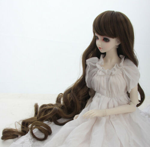 Details about  /New High temperature silk long curly hair Wig For 1//3 1//4 1//6 BJD Doll FBE014